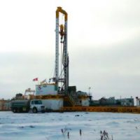 There's a company drilling for oil 300 km Northeast of Regina